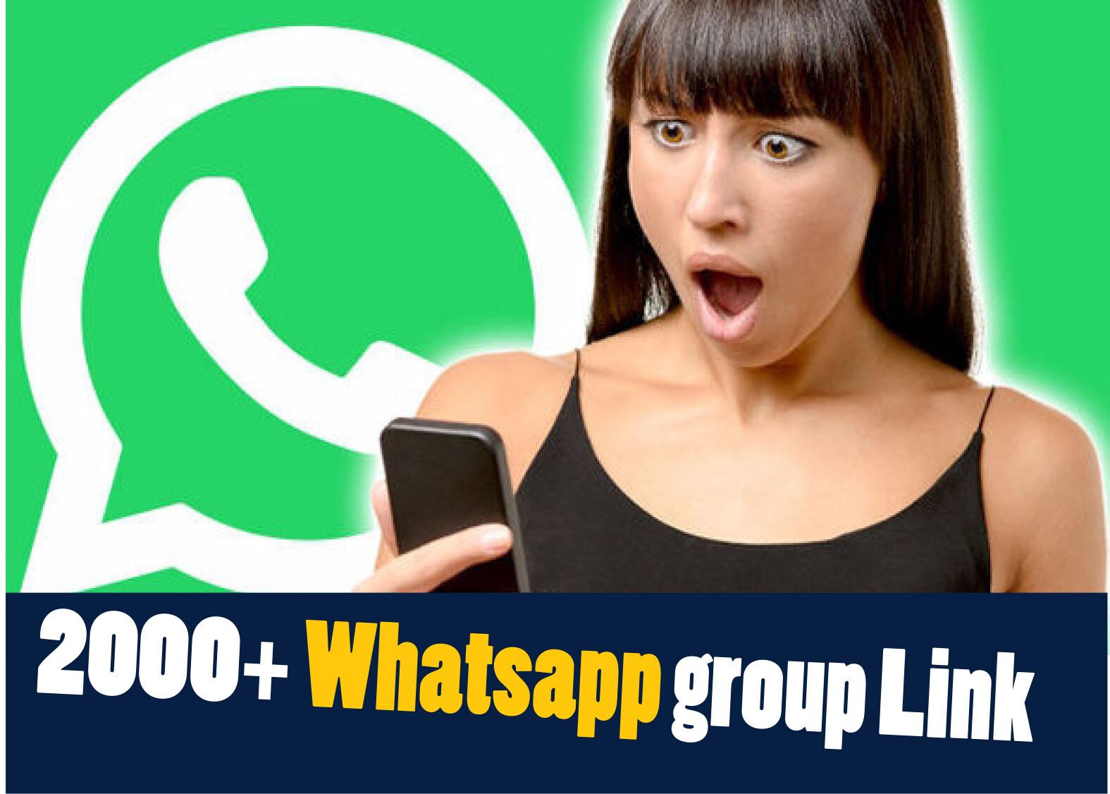 2,000 से भी ज्यादा WhatsApp Group की link in Hindi
