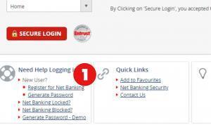Register For Net Banking