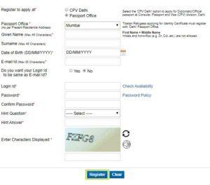 Passport Seva Application Form