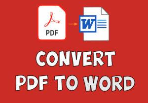 PDF to Word Convert Tools in hindi