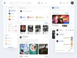 Facebook New Design Layout