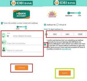 IDBI bank zero balance account opening hindi