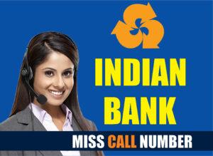 Indian Bank balance check mobile number