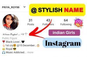 Stylish Attitude Names for Instgram for Girl