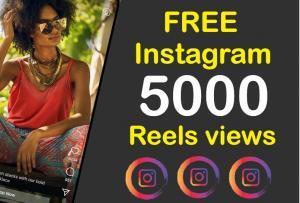 Instagram 5000 Reels views free